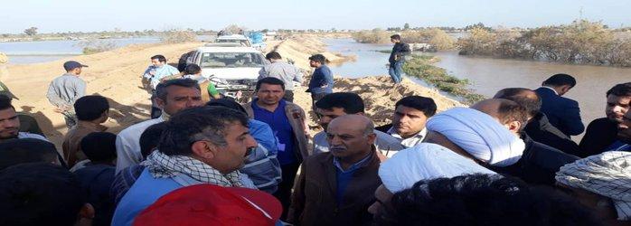 مدیرکل مدیریت بحران خوزستان؛سیل بند روستای آلبوعفری در حرکتی جهادی ترمیم شد