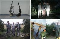 دستگیری شکارچیان غیرمجاز درچالوس ،آمل و ساری
