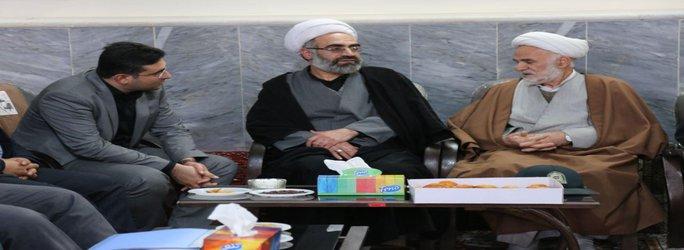 تشکیل جلسه شورای اداری شهر هیدج در دفتر امام جمعه محترم به مناسبت دهه مبارک فجر