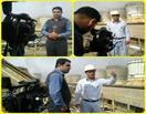 حضور تیم خبری صداوسیمای خوزستان  جهت گزارش خبری از تعمیرات اساسی برج خنک کن نیروگاه رامین