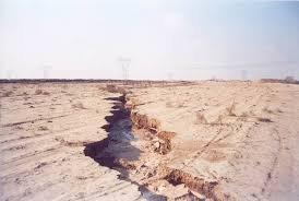فرونشست زمین به علت برداشت بی رویه از آبهای زیر زمینی