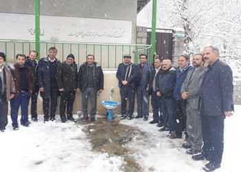 افتتاح یک طرح آبرسانی روستایی در شهرستان رودبار