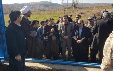 افتتاح پروژه آبرسانی به روستای زرواو سفلی از توابع شهرستان بانه به مناسبت دهه مبارک فجر