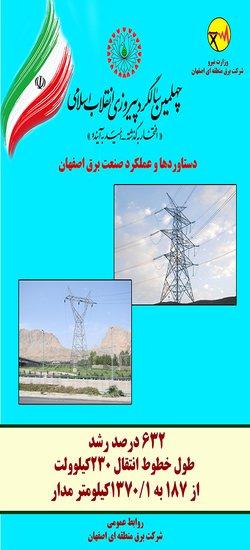 بخشی از دستاوردها و عملکرد صنعت برق اصفهان