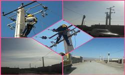 تاسیسات و خطوط برق رسانی روستاهای منطقه سرکویر اصلاح و بهسازی شد