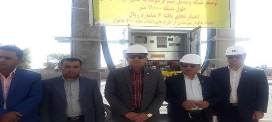 رفع افت ولتاژ برق ۳۰ روستا از توابع بخش مرکزی قلعه گنج به مناسبت دهه مبارک فجر
