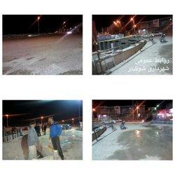گزارشی از فعالیتهای واحد امانی خدمات شهر شهرداری شوشتر