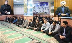 برگزاری مراسم سوگواری ایام فاطمیه در شرکت توزیع برق استان سمنان