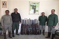 دستگیری شکارچیان غیرمجاز درآمل ، بابل و ساری/ جمع آوری دام هوایی در فریدونکنار
