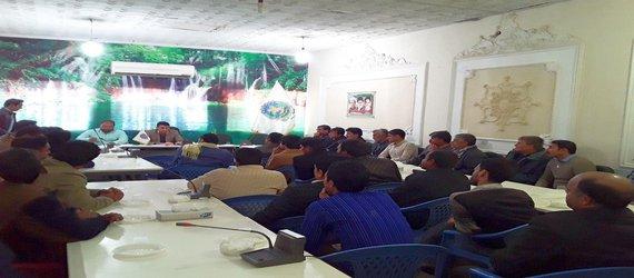جلسه توجیهی رئیس اداره حراست شهرداری با نگهبانان واحد های مختلف شهرداری زابل