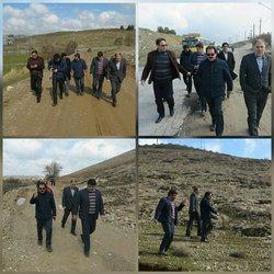 بازدید میدانی دکتر جافری شهردار بروجرد و اعضای محترم شورای اسلامی شهر از تپه شهدا (چغا)