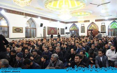اولین سالگرد ارتحال ابوالشهداء حاج حسن عبوری در امام زاده شاهزاده حسین ساری