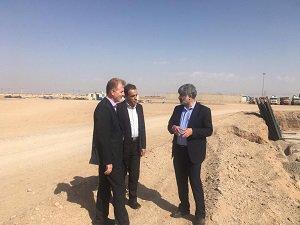 بازدید نماینده مردم یزد در مجلس شورای اسلامی از مخزن ۵۰ هزار مترمکعبی ذخیره یزد