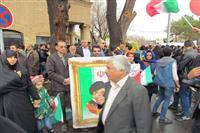 حضور کارکنان اداره محیط زیست یزد در راهپیمایی ۲۲ بهمن