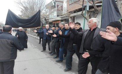حضور شهردار و عضو شورا شهر در دستجاتی عزاداری حضرت  فاطمه زهرا(س)