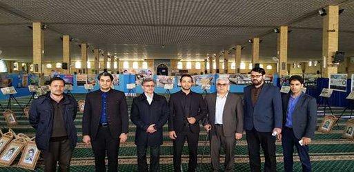 بازدید اعضای شورای اسلامی شهر خوی از نمایشگاه دستاوردهای ۴۰ ساله انقلاب اسلامی