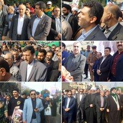 حضور شهردار خرمشهر و اعضاء شورای اسلامی شهر همگام با مردم در راهپیمایی حماسی ۲۲ بهمن