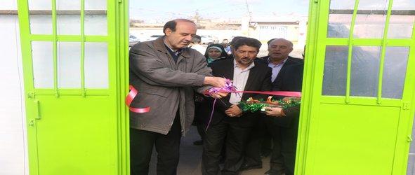 اولین مدرسه سبز در شهر زرند افتتاح شد .