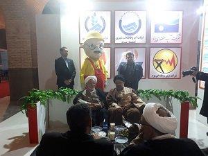 بازدید مشاور وزیر نیرو در امور فرهنگی و دینی از غرفه صنعت آب و برق یزد