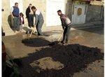 عملیات شن ریزی و زیرسازی کوچه های سطح منطقه دو