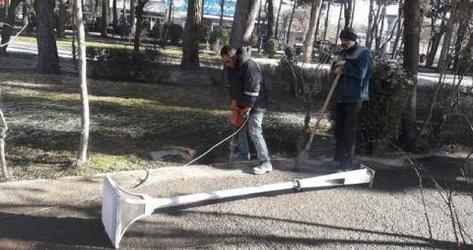 پروژه روشنایی معابر پارک ملت آغاز شد