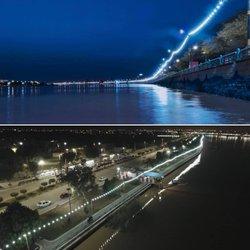 پروژه نور پردازی پیاده رو بلوار ساحلی بایندر به طول بیش از دو کیلومتر توسط شهرداری خرمشهر