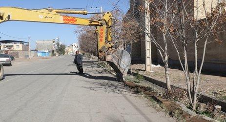 مهندس مهدلو شهردار زرند : خیابان شهید خلیلی بهسازی و آسفالت خواهد شد .