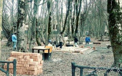 آغاز عملیات احداث ۲۱ سکوی بتنی در کمپ مسافری پارک جنگلی النگدره