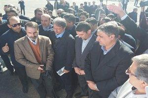 بازدید وزیر راه و شهرسازی از پروژه آزادراه راه آراک - خرم آباد