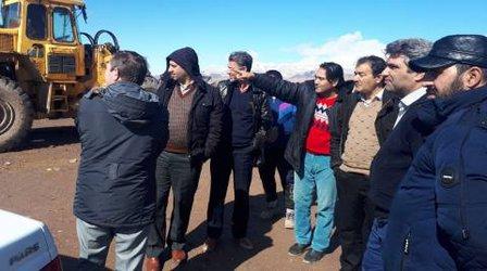 بازدید شهردار چناران از سایت محل دفن بهداشتی زباله های شهری