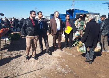 بازدید از وضعیت دستفروشان منطقه سه شهرداری قزوین