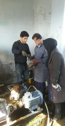 رفع ضعف فشار آب آشامیدنی ۶ روستای شهرستان های شفت و رضوانشهر
