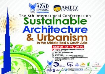 پنجمین همایش بین المللی معماری و شهرسازی پایدار در خاورمیانه و جنوب آسیا