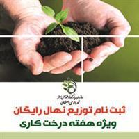 ثبت نام نهال رایگان ویژه هفته درختکاری