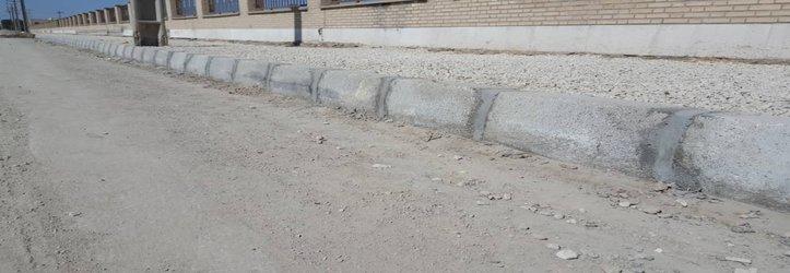 جدول گذاری خیابان داودی و آماده سازی جهت احداث پیاده رو