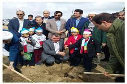 مراسم کاشت نهال در میدان سوارکاری شهرستان آق قلا