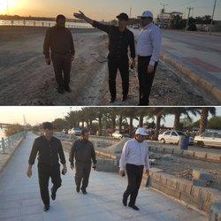 بازدید شهردار خرمشهر از روند عملیات اجرایی پروژه احداث پارک ساحلی