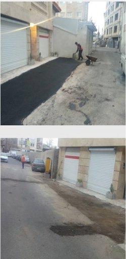 روابط عمومی منطقه دو : گزارش تصویری عملیات عمرانی ترمیم آسفالت محدوده منطقه