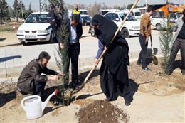 گرامیداشت روز درختکاری و هفته منابع طبیعی در پالایشگاه نفت شهید  تندگویان شهرستان ری