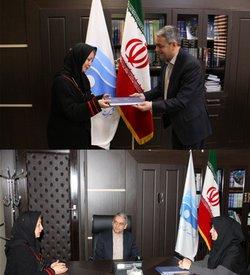 مدیرعامل شرکت آب منطقه ای زنجان از خانم دکتر وطن دوست (دبیر همیاران طبیعت) تجلیل کرد.