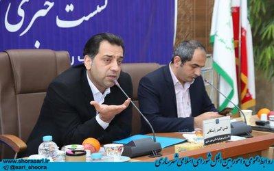 نشست خبری علی اکبر زلیکانی نائب رئیس شورای اسلامی شهر ساری با اصحاب رسانه