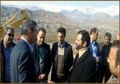 بازدید مدیرکل مدیریت بحران استان البرز از محل رانش زمین در بلوار ورودی شهر طالقان
