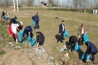 استقبال از بهار طبیعت در شهرستان سیاهکل با پاکسازی عمومی شهر