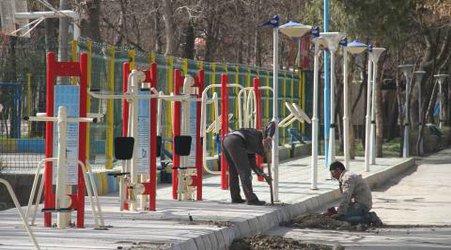 نصب ست های ورزشی جدید در پارک ملت