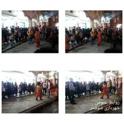 اجرای نمایش خیابانی نوروز و فیروز در شوشتر  آغاز شد