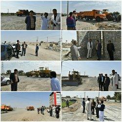 بازدید فرماندار زابل از طرحهای عمرانی دردست اجرای شهرداری زابل