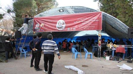 استقبال چشمگیر شهروندان و کودکان تاکستانی از جشنواره تخم مرغ رنگی