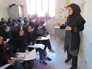 اجرای طرح داناب در یکی از مدارس شهرستان ارزوئیه