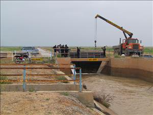 آبگیری مجدد کانال پای پل در شبکه آبیاری کرخه شمالی با موفقیت به پایان رسید