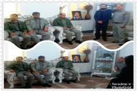 بازدید تنی چند از مسوولان اداره محیط زیست از خانواده محیط بان شهید شجاعی